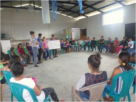 Estudiantes de la microregión V del Ixcán, reciben el primer módulo del diplomado en Derechos.