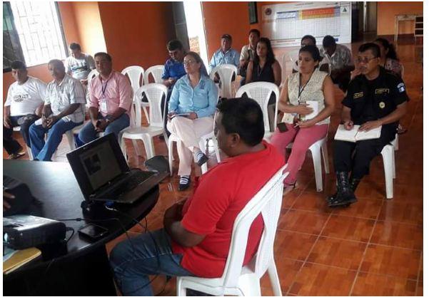 Equipo ACCSS en Reunión con Integrantes de CONRED en Municipalidad de Champerico Retalhuleu