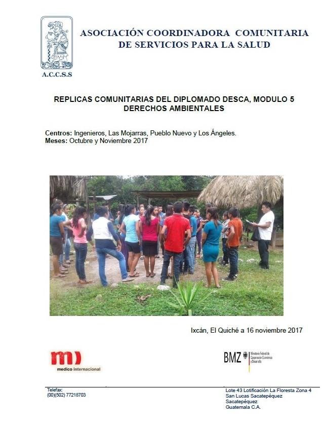 REPLICAS COMUNITARIAS DEL DIPLOMADO DESCA, MODULO 5
