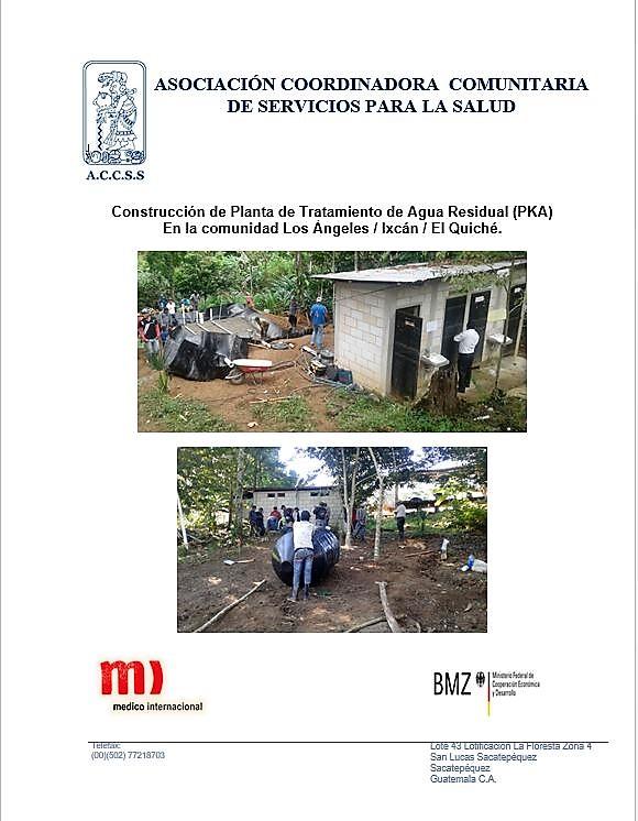 CONSTRUCCIÓN DE PLANTA DE TRATAMIENTO, PKA´S  COMUNIDAD DE LOS ANGELES