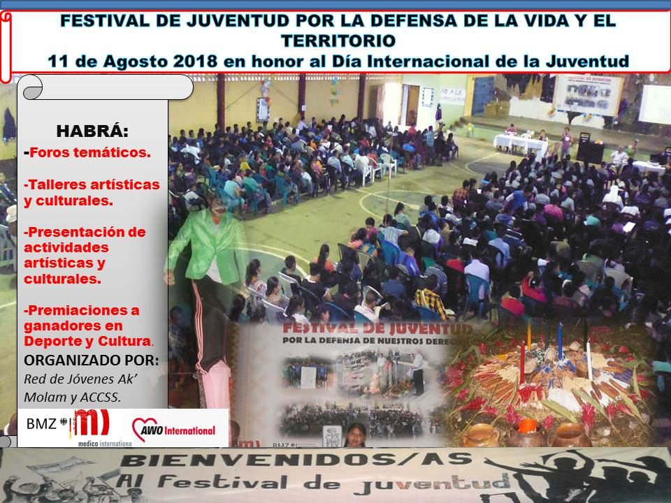 FESTIVAL DE LA JUVENTUD POR LA DEFENSA DE LA VIDA Y EL TERRITORIO