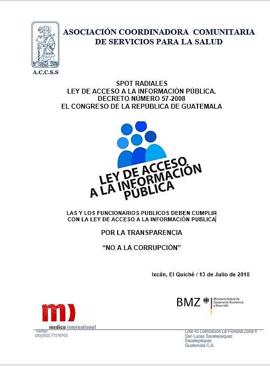 """Ley Acceso a la Información Publica """"Procedimiento de Acceso a la Información Pública"""""""