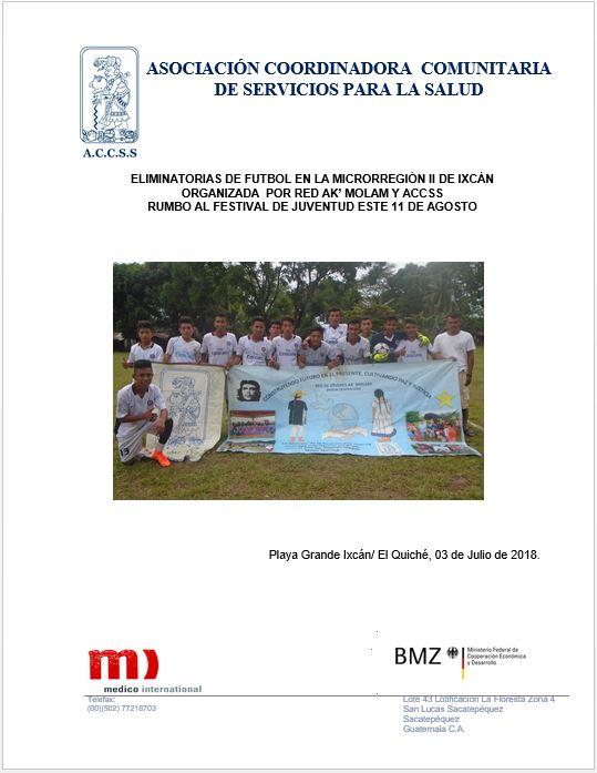 ELIMINATORIAS EN RAMAS DE FUTBOL EN LA MICROREGION II EN IXCÁN EL QUICHE