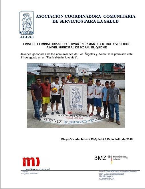 Final de Eliminatorias Deportivas en Ramas de Futbol y Voleibol «Rumbo al Festival de la Juventud»