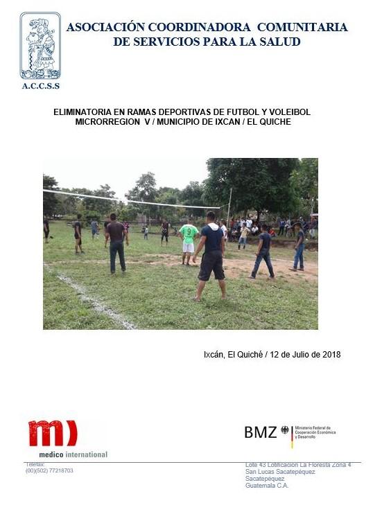 Eliminatorias Deportivas en Ramas de Futbol Y voleibol en la Microrregión V