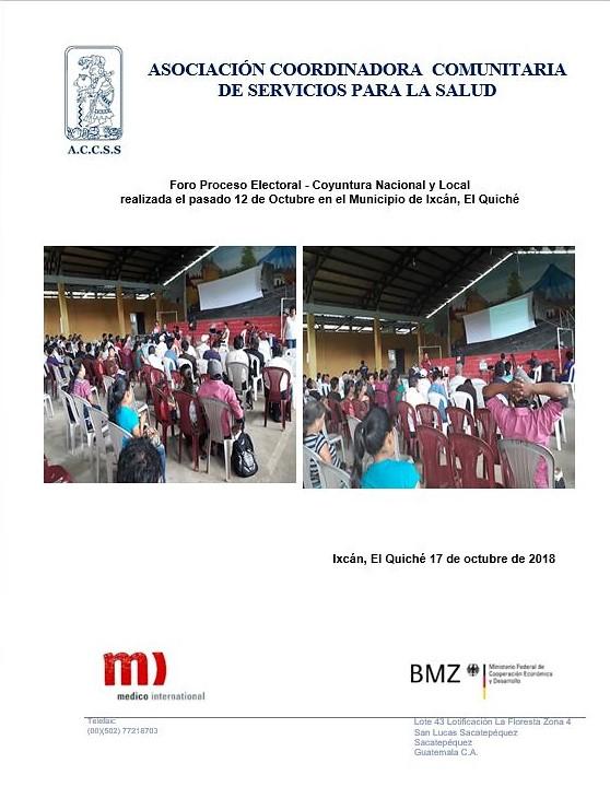 Foro Proceso Electoral y Coyuntura Nacional y Local