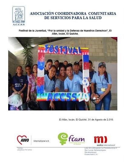 """Festival de la Juventud, """"Por la unidad y la Defensa de Nuestros Derechos"""", El Afán, Ixcán, El Quiche."""