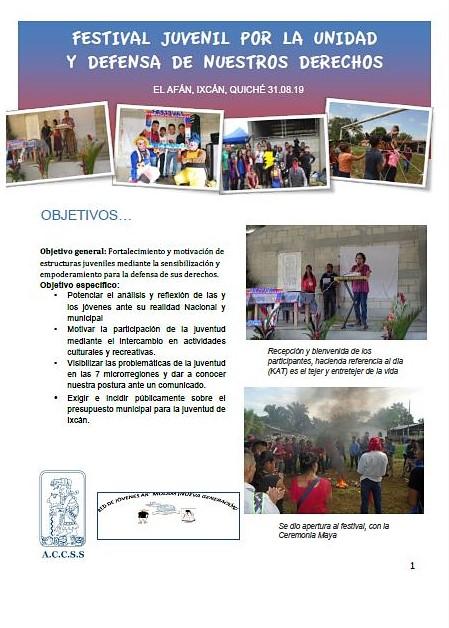 Memoria «Festival de la Juventud»