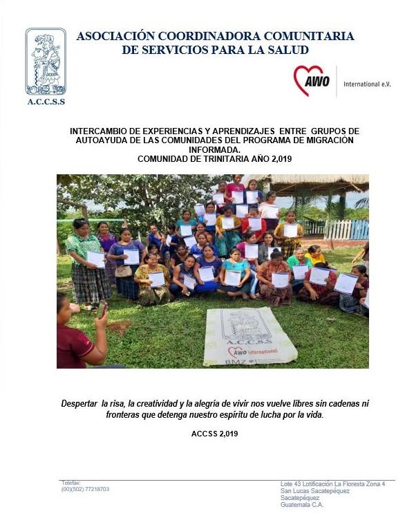 Intercambio de experiencias y aprendizajes  entre  grupos de autoayuda de las comunidades del programa de migración informada.