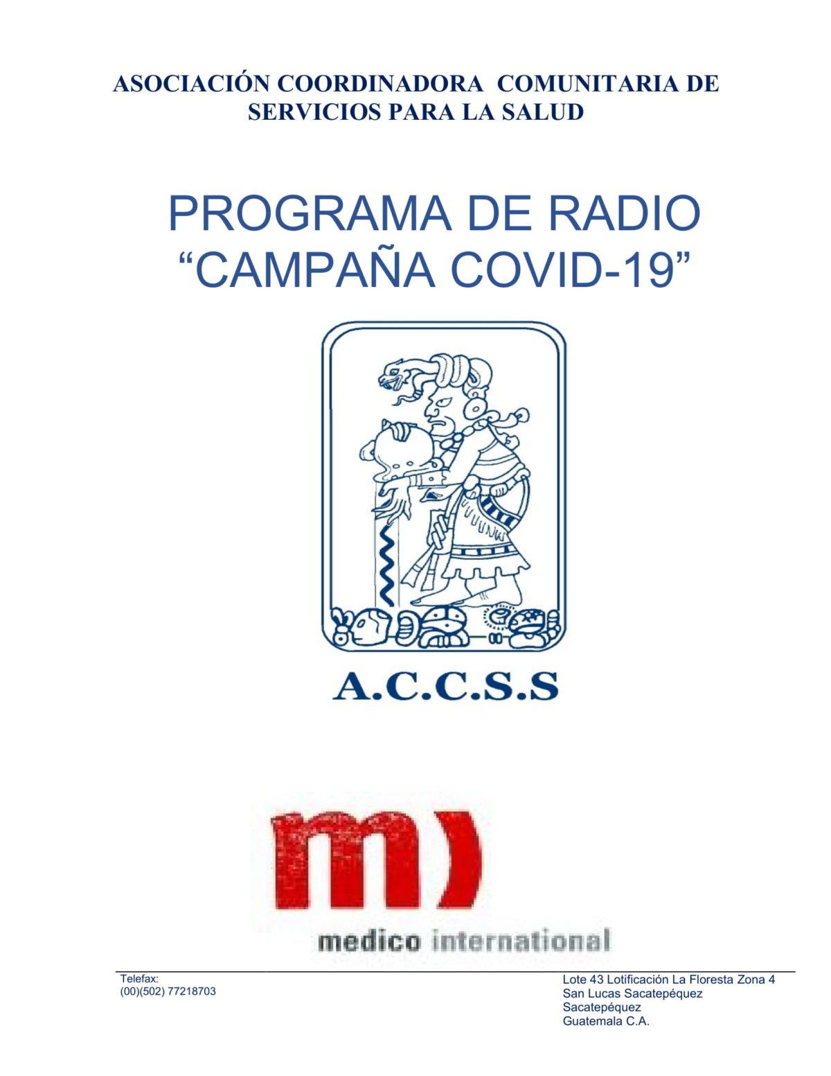 Campaña COVID-2019, Lavado de Manos