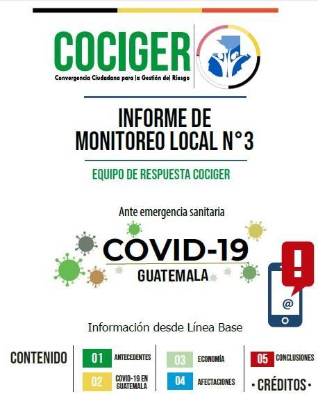 Informe de Monitoreo Local No. 3 Equipo de Respuesta COCIGER