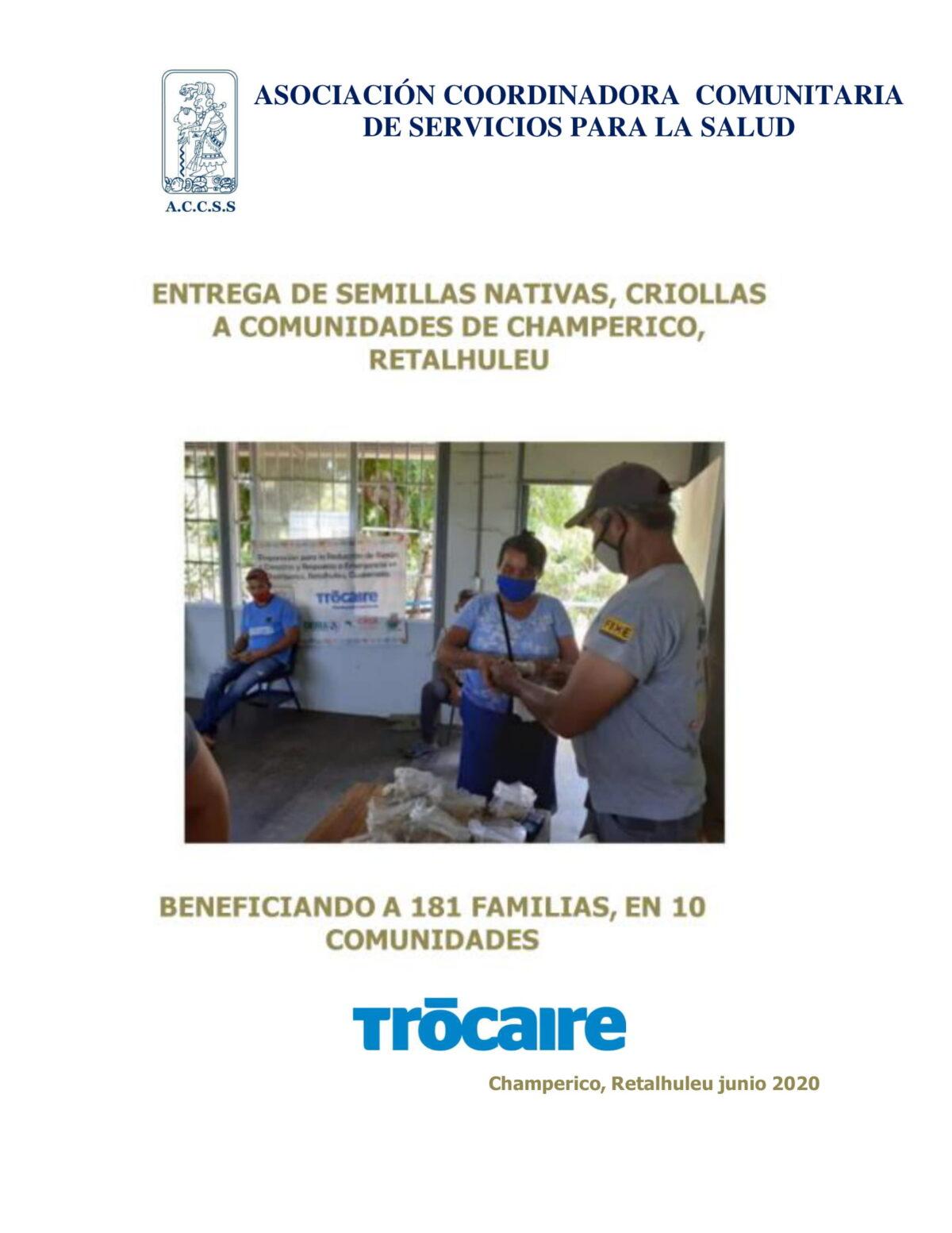 Entrega de Semillas Nativas, Criollas a Comunidades de Champerico, Retalhuleu