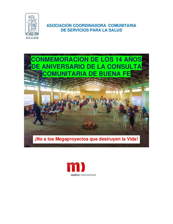 Conmemoración de los 14 años de la Consulta Comunitaria de Buena Fe en Ixcán