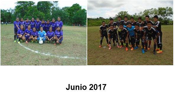 """Eliminatorias deportivas Municipio de Ixcán /  Microregión No. 2  Rumbo al """"Festival de Jóvenes 2017"""" Red de Jóvenes Ak'Molam Ganadores rama femenina, masculina"""
