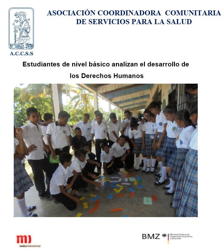 Estudiantes de nivel básico analizan el desarrollo de  los Derechos Humanos