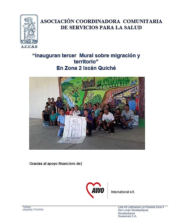 Tercer  Mural sobre Migración y Territorio