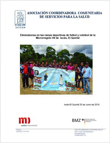 Eliminatorias de Equipos Deportivos de la Microrregión VII de Ixcán Quiche