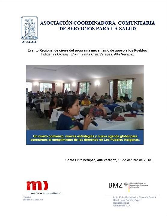 Evento Regional de cierre del programa mecanismo de apoyo a los Pueblos Indígenas