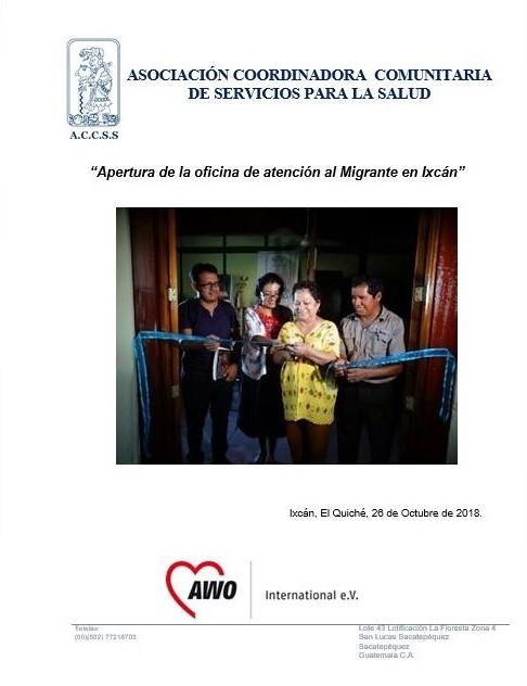 Inauguración de la Oficina de Atención al Migrante