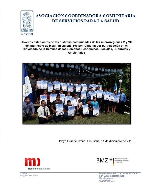 Entrega de Diplomas en las diferentes comunidades de las microrregiones V y VII