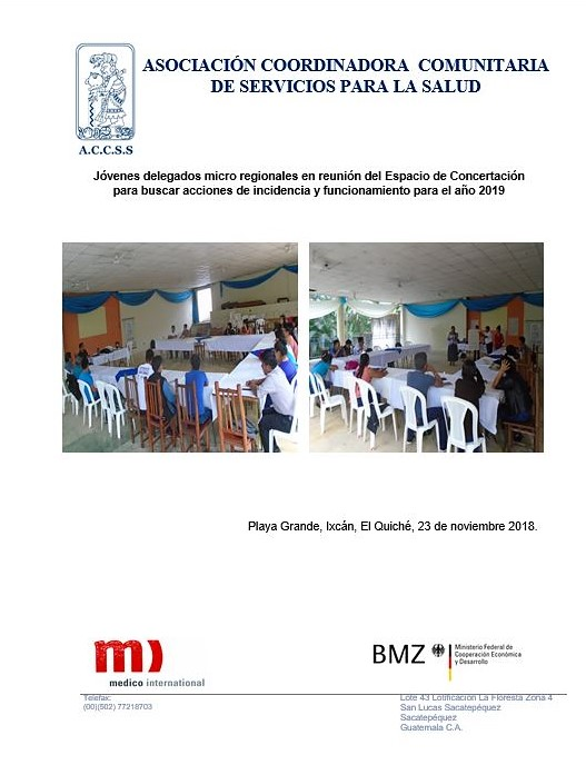 Jóvenes Delegados participan en Reunión de Espacio de Concertación Micro regional