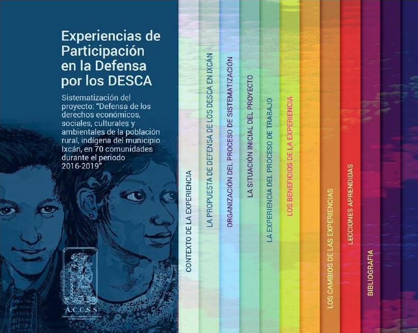 """Experiencia de participación en la """"Defensa por los DESCA""""."""