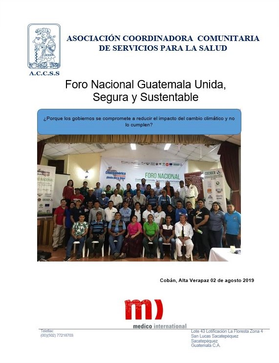 Foro Nacional Guatemala Unida, Segura y Sustentable