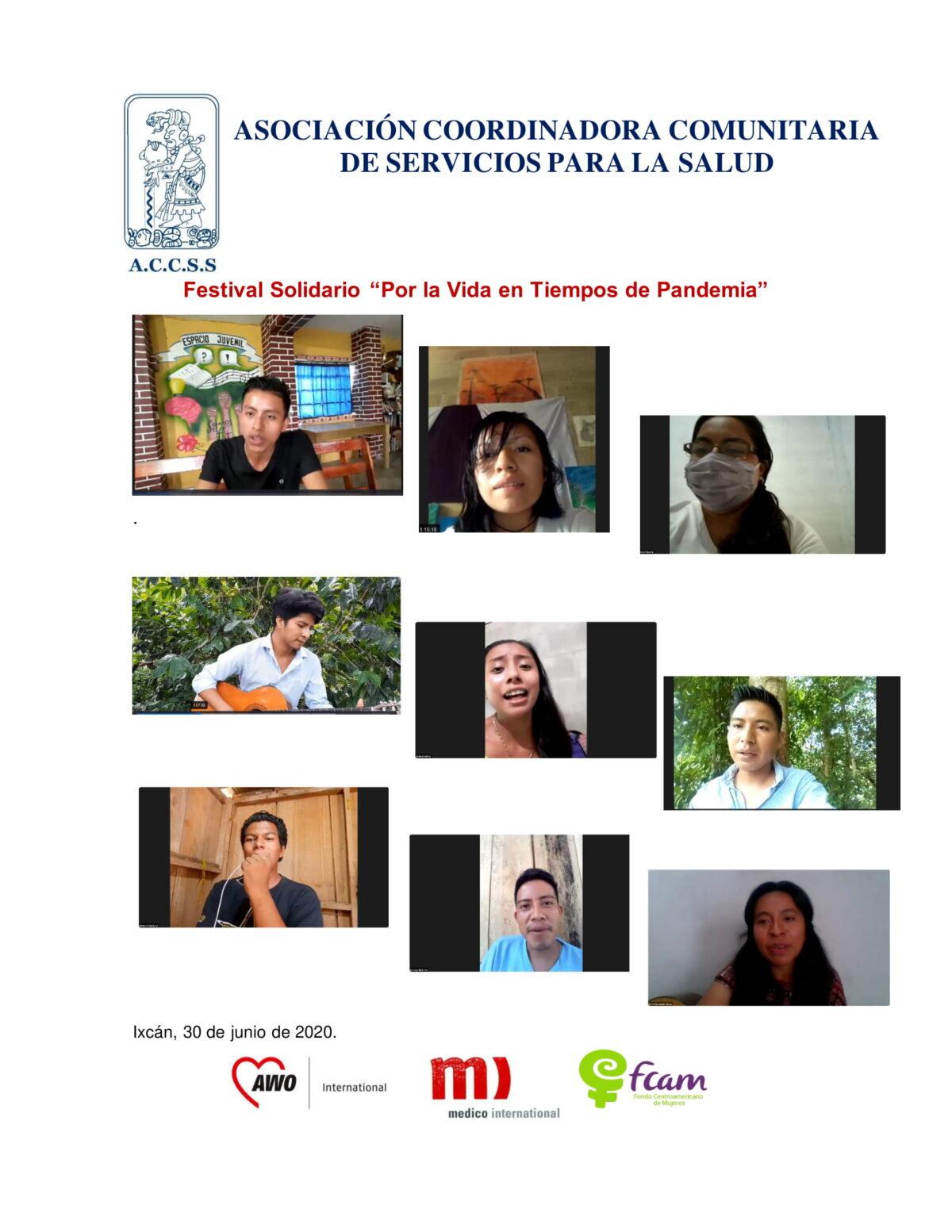 Festival Solidario «Por la Vida en Tiempos de Pandemia»